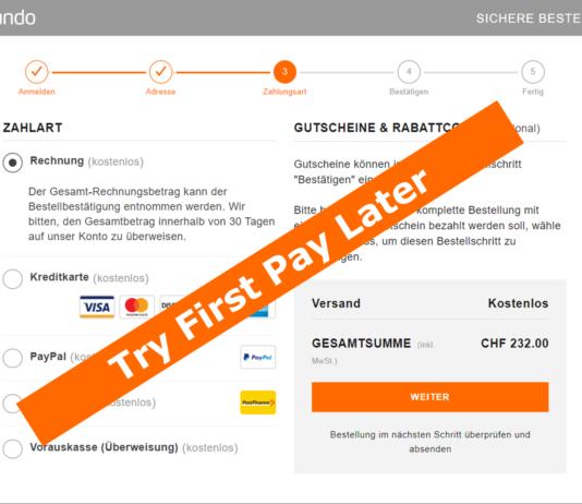 """Zalando testet sein """"Try First Pay Later"""" Konzept und will den Zahlungsschritt aus dem Checkout entfernen."""