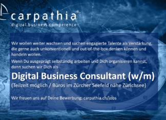 Carpathia sucht: Digital Business Consultant (w/m)