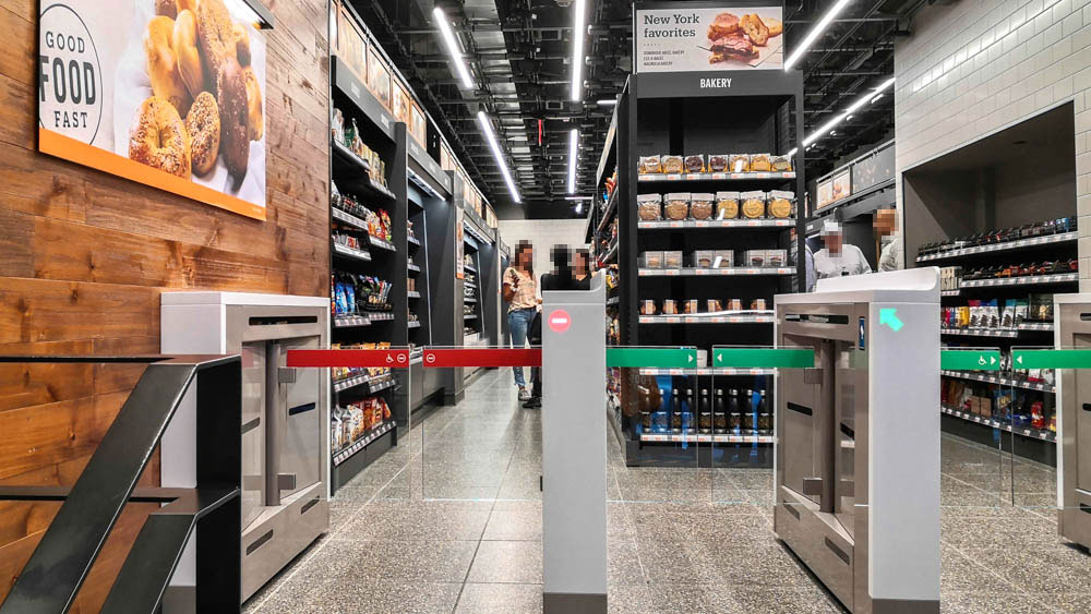 Amazon Go - Eingang zum kassenlosen Convenience Store / Photo: Supermarktblog