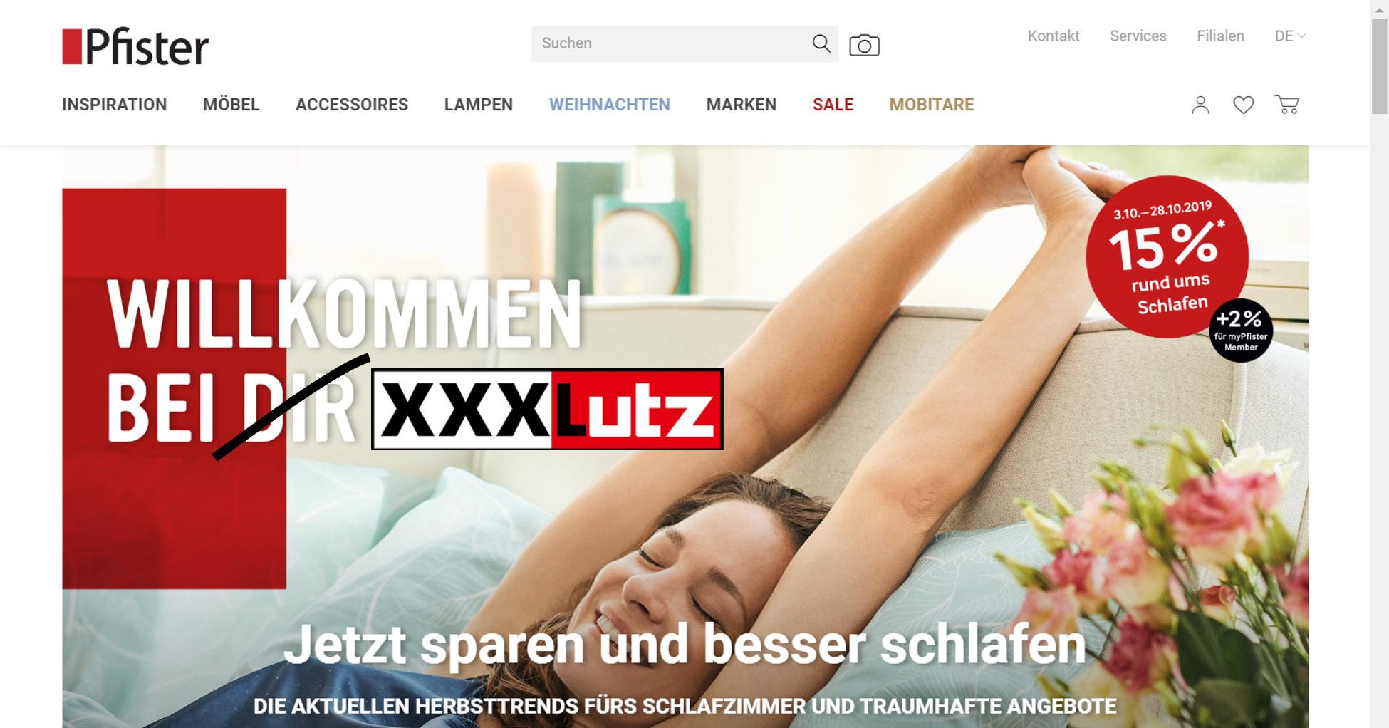 Die österreichische XXXLutz-Gruppe übernimmt Möbel Pfister (Grafik: Carpathia AG)