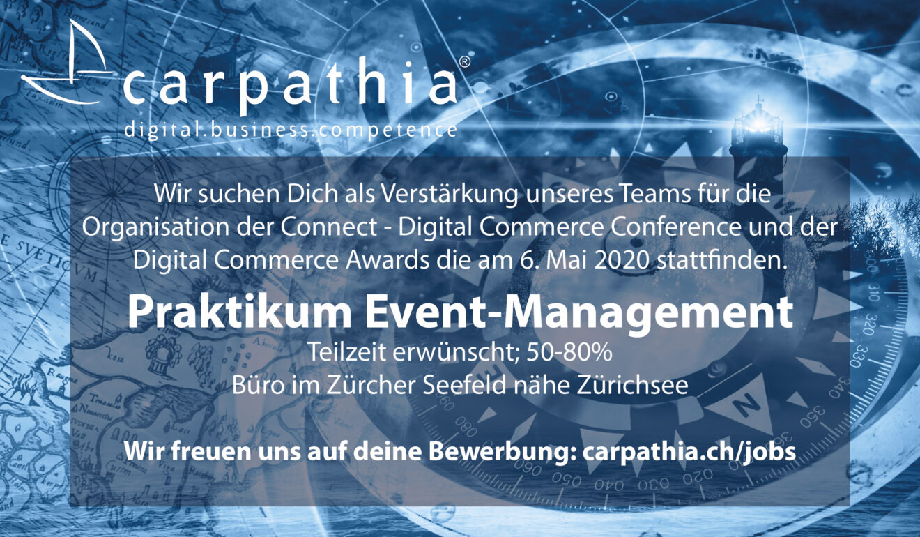 We are hiring: Praktikum Event-Management