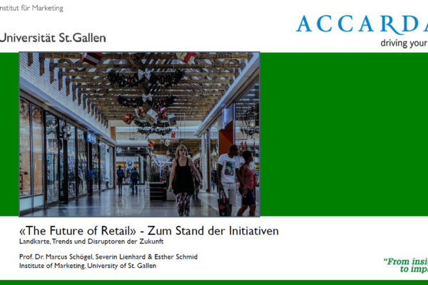 HSG-Studie: The Future of Retail – Zum Stand der Initiativen