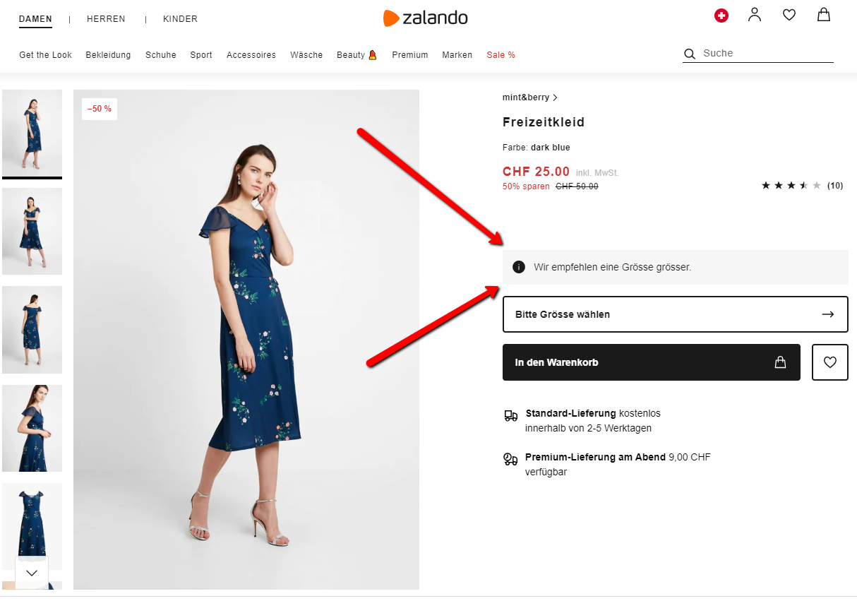 grössen-wahl bei fashion in online-shops | carpathia digital