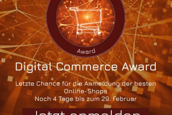 Letzte Chance: Award-Anmeldefrist endet in 4 Tagen am 29. Februar #dcomzh
