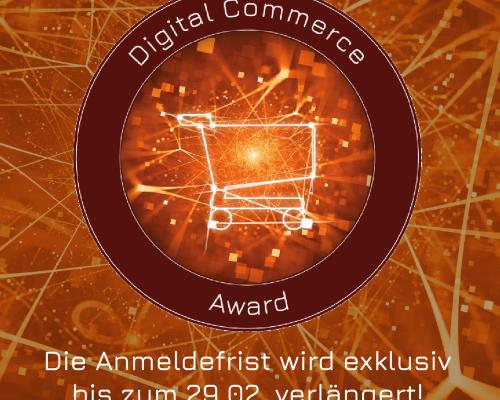 Good News: Award-Anmeldefrist exklusiv bis zum 29. Februar verlängert #dcomzh
