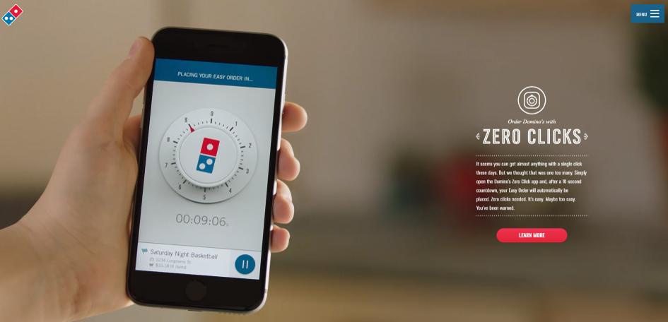 Innovation bei Domino's Pizza - warum mich die Zero Click App begeistert