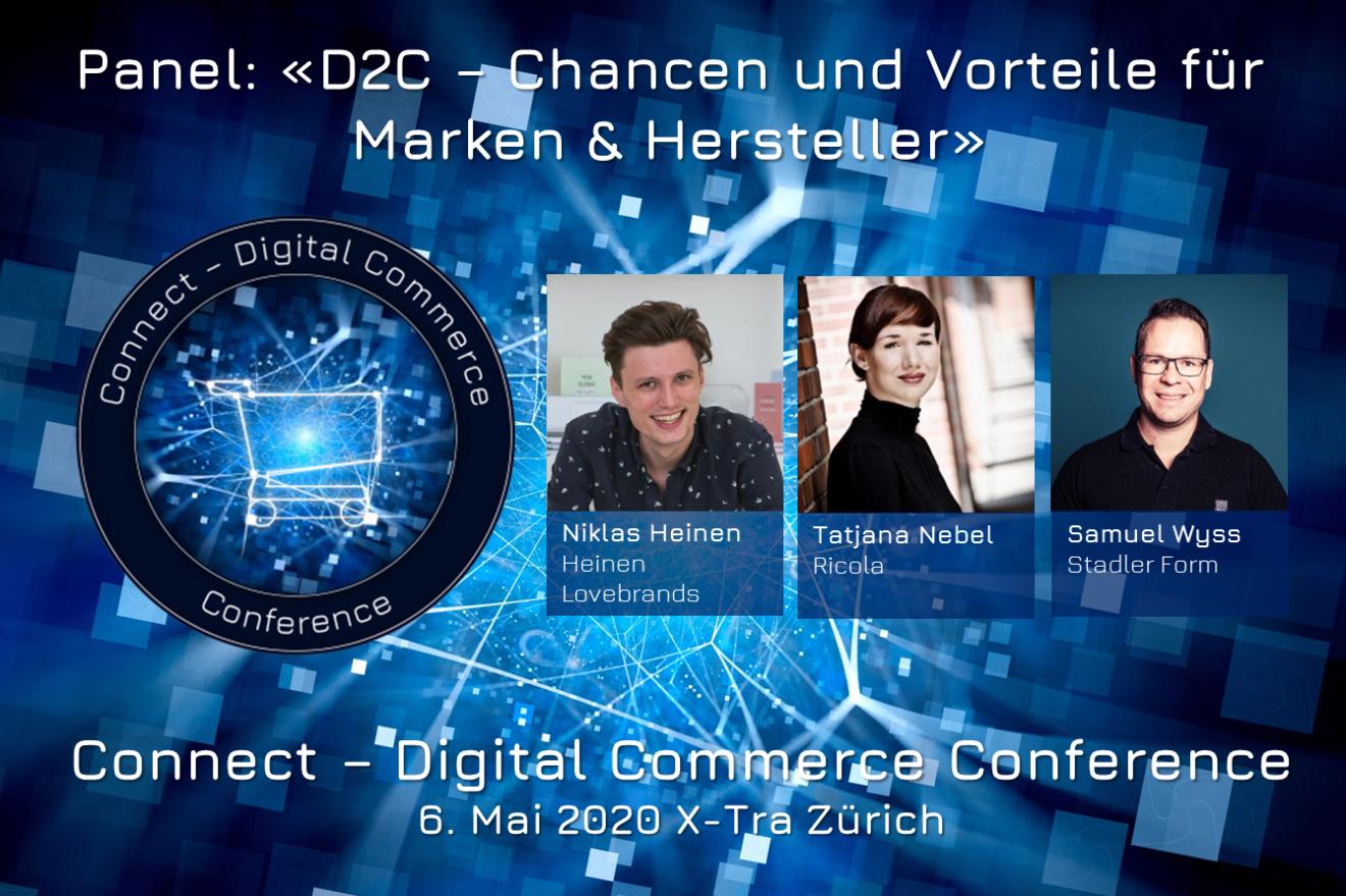 D2C: Chancen und Vorteile für Marken und Hersteller - Panel am 6. Mai #dcomzh