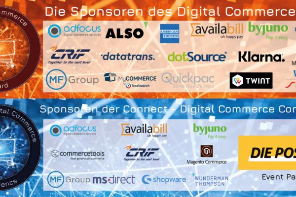 Herzlichen Dank unseren Sponsoren der Connect – Digital Commerce Conference und Award #dcomzh