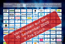 Connect - Digital Commerce Conference, Award und Night verschoben auf den 15. September 2020, wiederum im X-Tra in Zürich