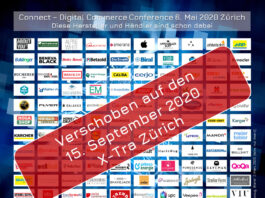 Connect - Digital Commerce Conference, Award und Night verschoben auf den 15. September 2020, wiederum im X-Tra in Zürich