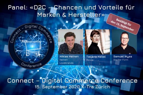D2C: Chancen und Vorteile für Marken und Hersteller – Panel am 15. September #dcomzh