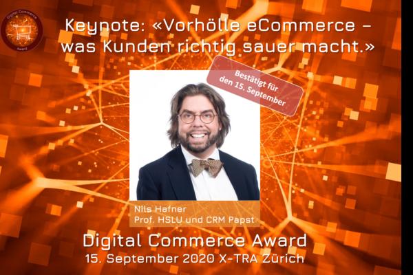 Award-Verleihung Keynote: «Vorhölle eCommerce – was Kunden richtig sauer macht.»