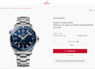 Neuer Omega Onlineshop omegawatches.com