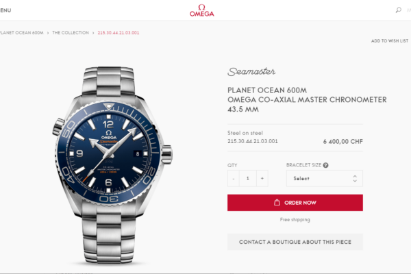 Neuer Omega Onlineshop omegawatches.com