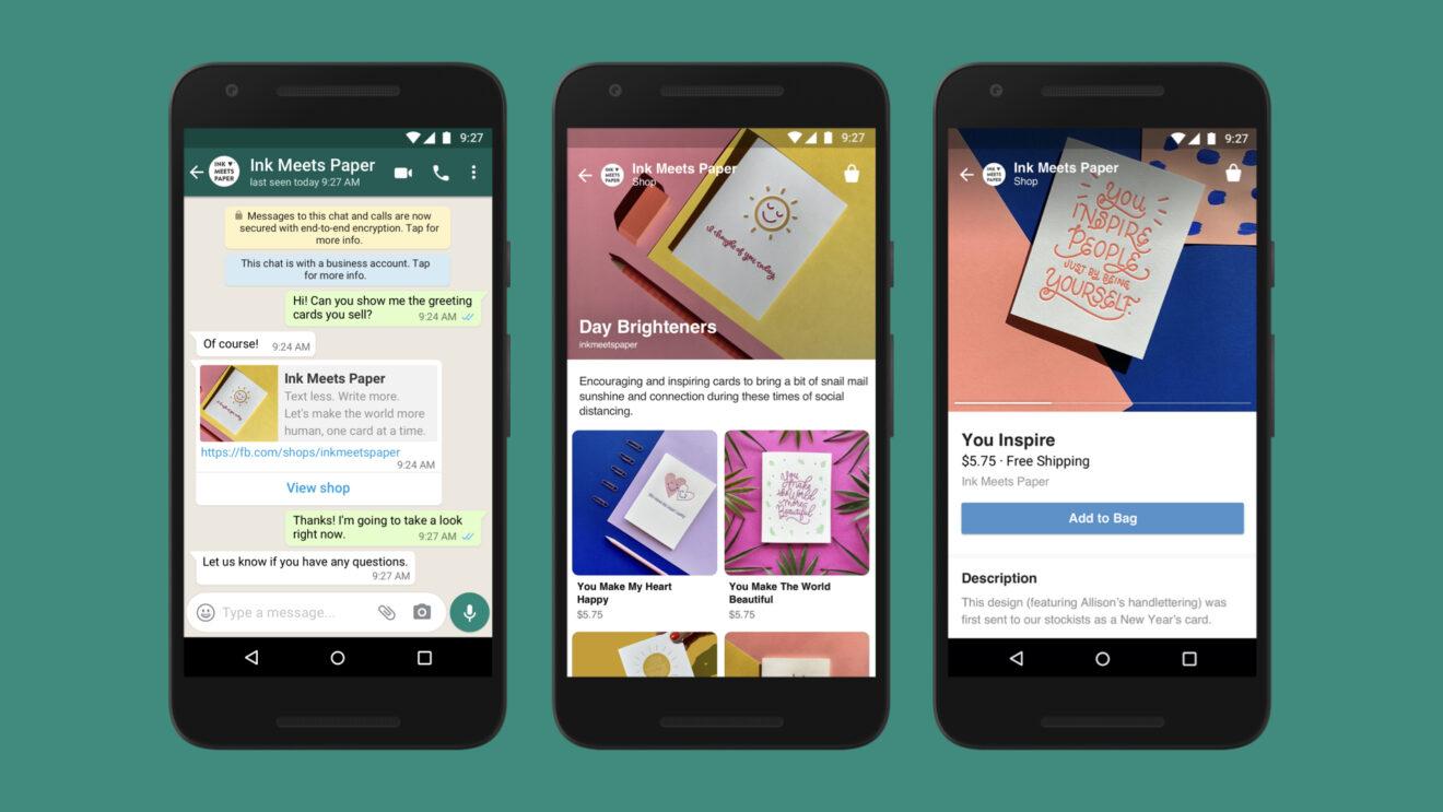 Facebook lanciert Shopping-Lösung und bindet Instagram, WhatsApp und den Messenger nahtlos ein