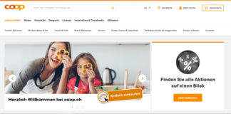 Startseite der neuen coop.ch Plattform / Quelle: beta.coop.ch
