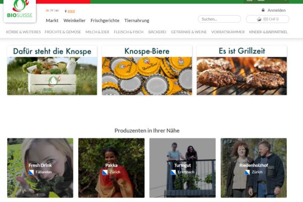 Bio Suisse mit neuem Onlineshop für Knospe-Lebensmittel #efood