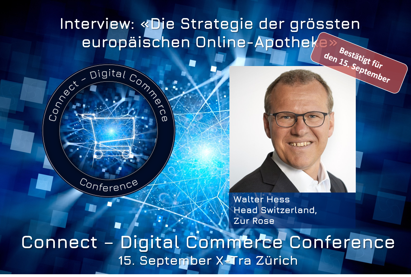 Walter Hess, Head Switzerland Zur Rose an der Connect - Digital Commerce Conference am 15. September 2020 im X-Tra in Zürich