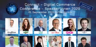Hochkarätige Speaker*innen der Connect - Digital Commerce Conference 2020 vom 15. September 2020 im X-Tra in Zürich