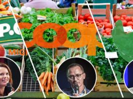 Die drei grössten Online-Lebensmittelhändler der Schweiz und Ihre Geschäftsführer*innen. Die Porträtfotos stammen von der Connect-Konferenz der Jahre 2020 (K. Tschannen), 2019 (R. Hartmann) und 2017 (P. Huwyler)