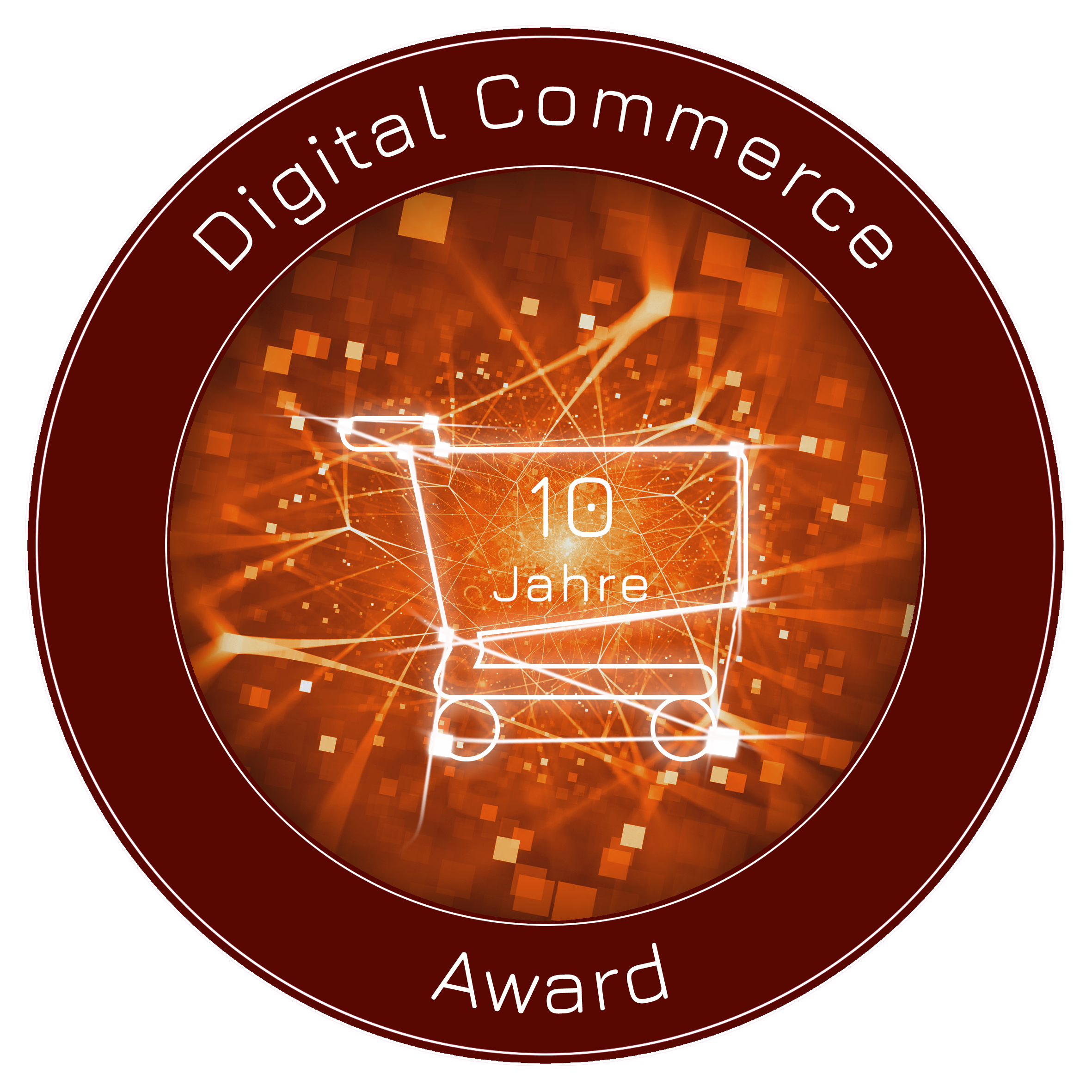 Digital Commerce Award Logo 10-jähriges Jubiläum