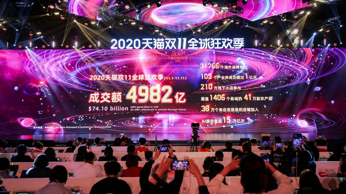 Alibaba GMV Singles' Day 2020 - Quelle: Alizila