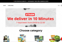 Startseite des Fast E-Commerce Players Stash