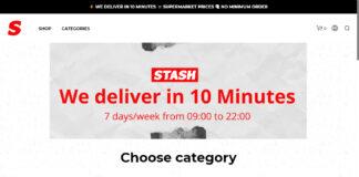 Startseite des Fast E-Commerce Players Stash