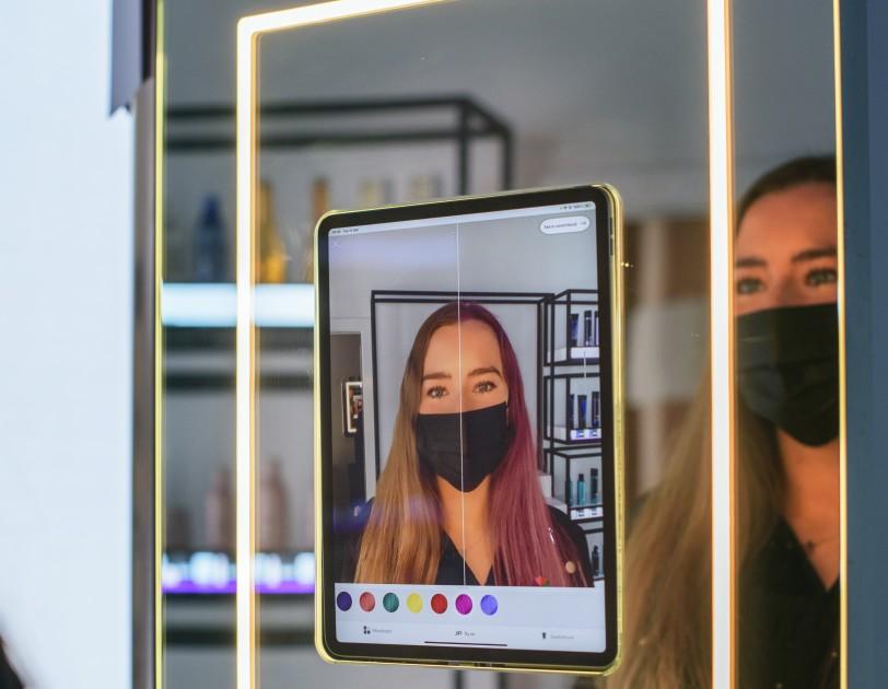 Etwas Augmented Reality im Londoner AmazonSalon