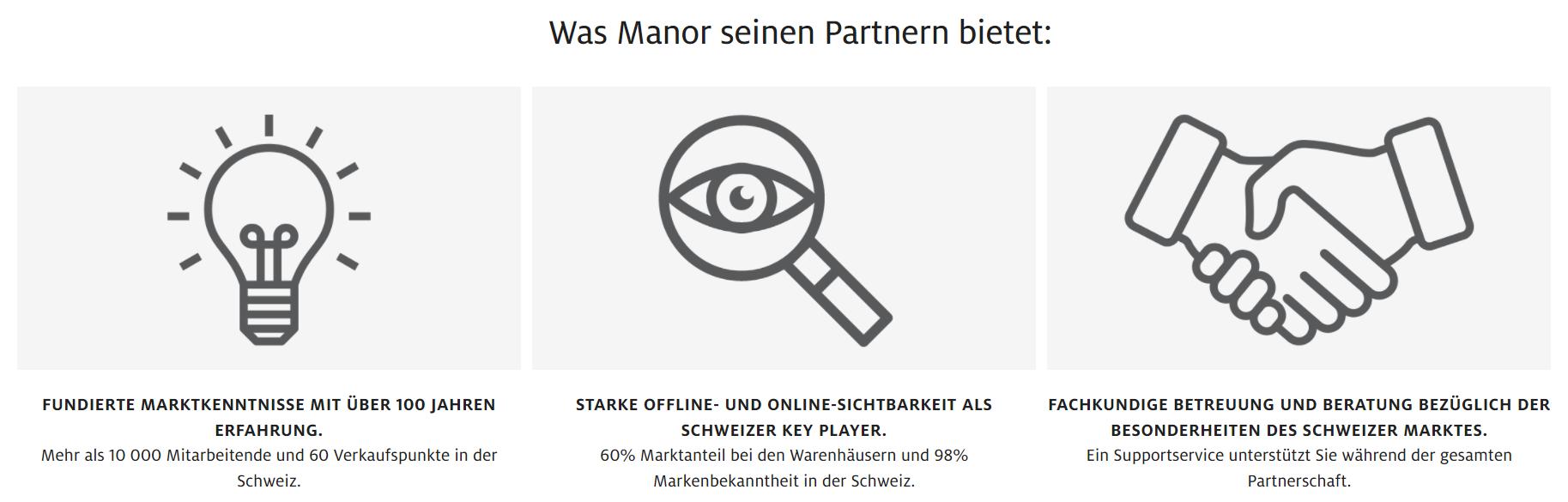 Manor Marketplace-Partner Angebot