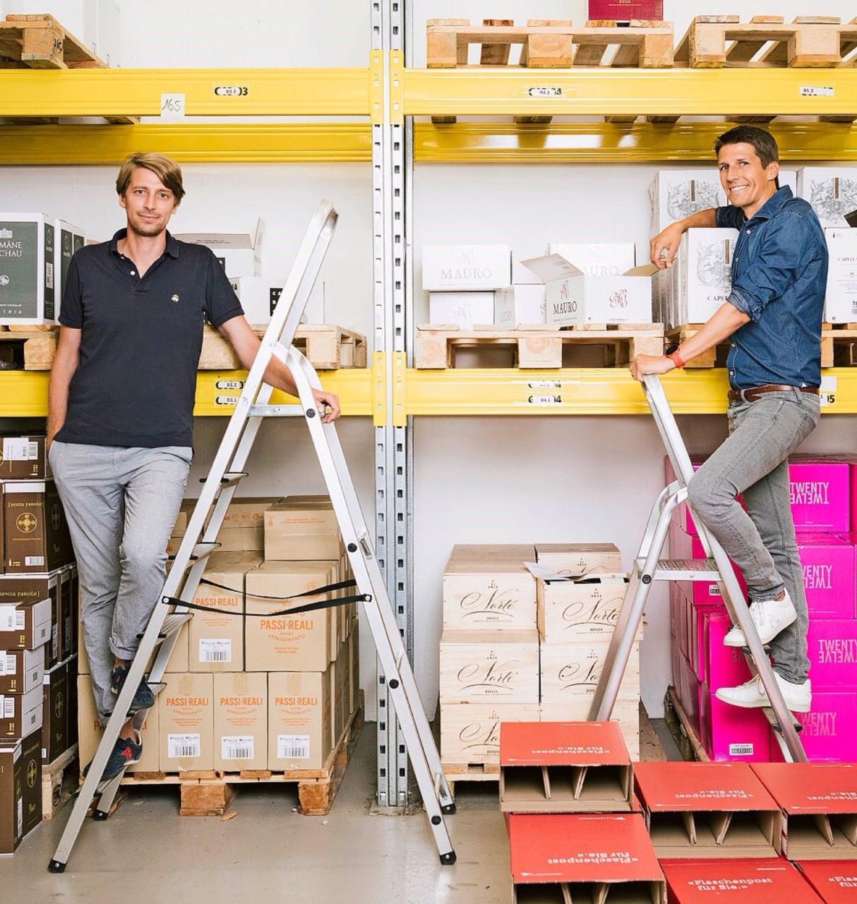 Flaschenpost Gründer Dominic Blaesi und Renzo Schweri - Quelle: SonntagsZeitung Samuel Schalch