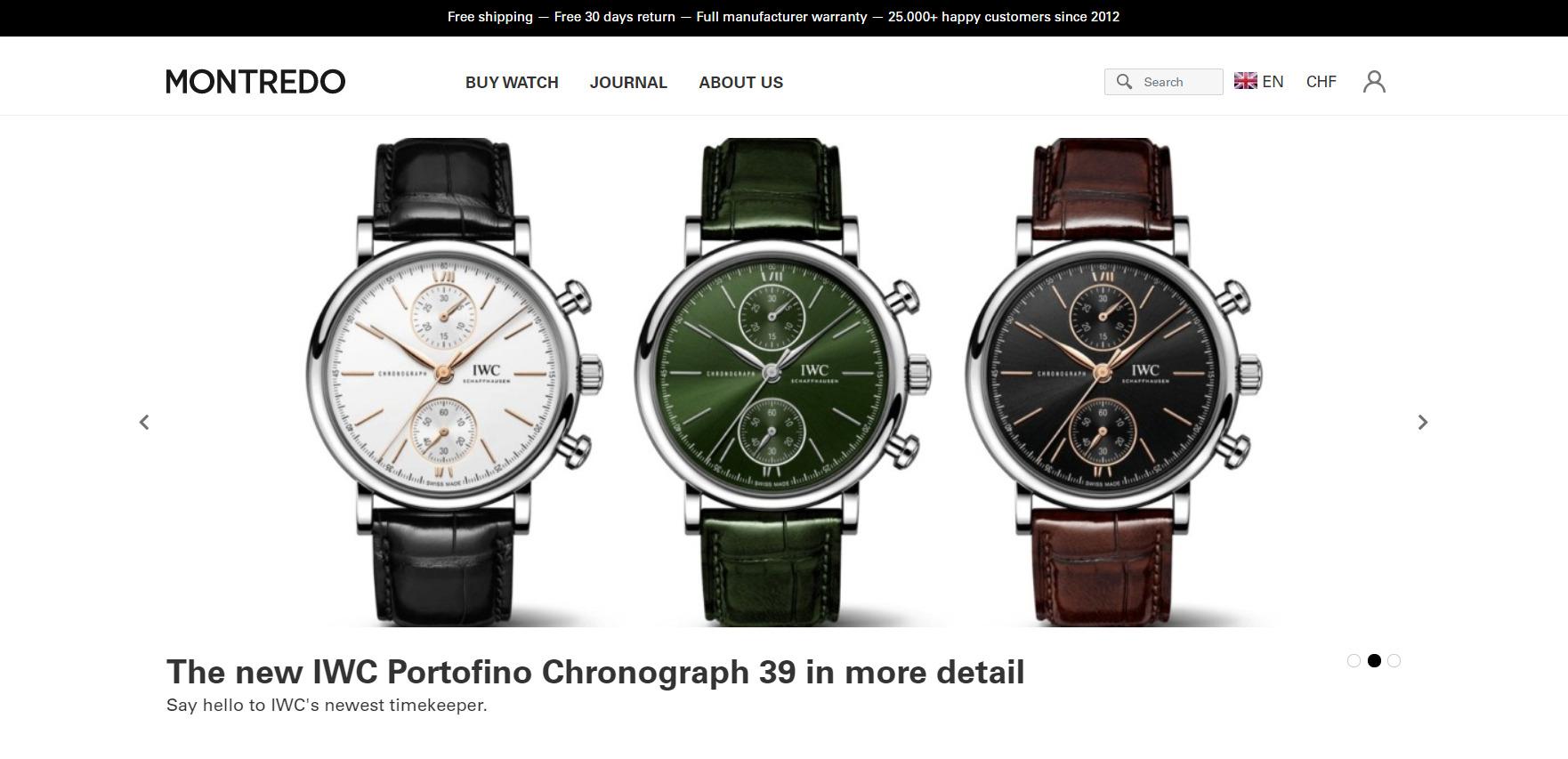 Startseite von montredo.com